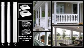vinyl columns round u0026 square accent building products