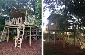 Tree House Backyard by Tree Houses Rb Landscaping Holly Springs Nc
