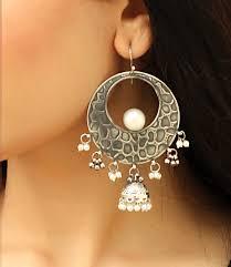 Silver Accessories Silver Jhumkas Earrings Jewellery Women Fashion Accessories