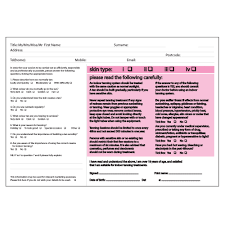 uv client record disclaimer cards tanning u0026 beauty