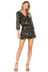 alice olivia jolene dress in black u0026 multi