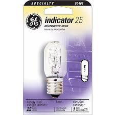 ge 25 watt t 8 microwave oven light bulb 90466 lamps plus