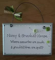 grandparent plaques handmade personalised nan grandad nan nanny gift plaque
