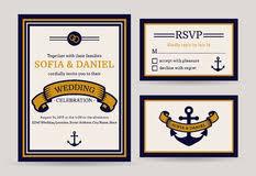 nautical wedding invitation marine vector save the date cards