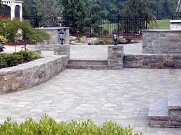 Backyard Pavers Exterior Creative Garden And Backyard Decoration Using Grey Brick