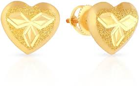 malabar earrings malabar gold and diamonds mhaaaaaavcrc 22 k gold stud earring in