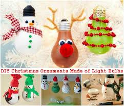 diy ornaments made of light bulbs diy amazing ideas