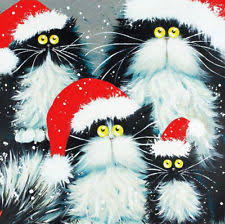 cat christmas cards ebay