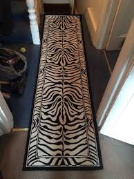 Zebra Runner Rug Zebra Print Runner Rug Best Decor Things