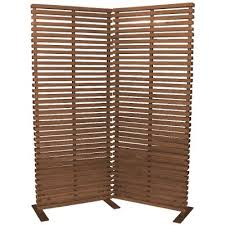 Screen Room Divider Brown Wood And Aluminum 2 Panel Screen Room Divider Rc Willey