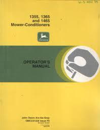 john deere mower conditioner 1355 1365 1465 operators manual