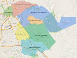 Cupertino Map San Francisco Bay Area Elementary Districts