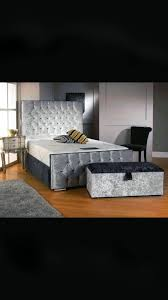 Crushed Velvet Bed Viridiana Knight Beds