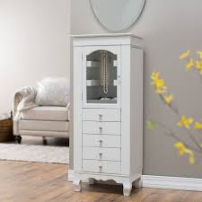 furniture white wall mount over the door jewelry armoire with