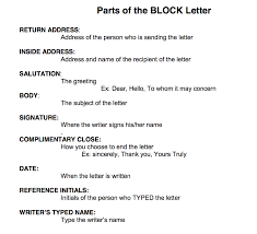 Example Of Full Block Style Business Letter by Parts Of A Business Letter Image Collections Examples Writing Letter