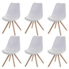 chaise blanc et bois chaise blanche en bois excellent chaise lot de chaises de sjour