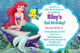 the little mermaid birthday invitations little mermaid birthday