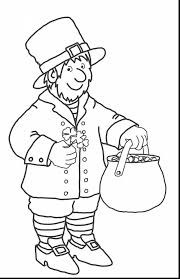 excellent cute st patrick leprechaun coloring pages with