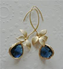 earring dangles vermeil gold dangle earrings orchid jewelry blue sapphire