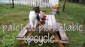 Build A Picnic Table Instructions by How To Make A Pallet Picnic Table Diy Pallet Upcycle Youtube