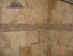 bathroom glass tile tub interior design