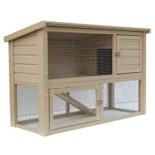 Indoor Hutch Trixie 4 Ft X 2 Ft X 3 Ft Rabbit Hutch With Sloped Roof 62302