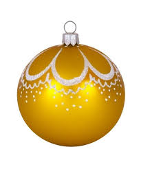 glass ornaments curl gold