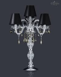 Crystal Table Lamps 106 Lg 3 1 Chrome Crystal Table Lamp With Swarovski Elements Color