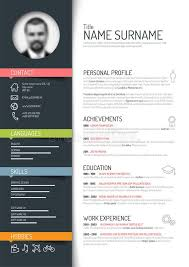 creative resume templates for free download download cv resume template stock vector image of green clean