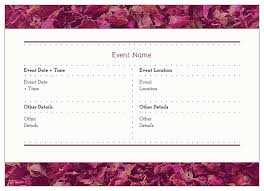 invitation card design template for event easy to use white flowers invitation card design templates for