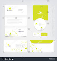 lime silhouette vector lime green business stationary design stock vector