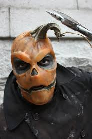 pumpkin mask for halloween halloween a couple years back gelatin mask real pumpkin stem sfx