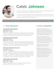 one page resume template word resume the best cv resume templates 50 exles stunning one one
