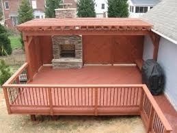wood deck by archadeck of charlotte with an integrated covered