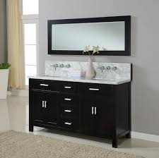 bahtroom simple mirror on white wall bit nice wall design near