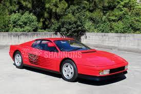 classic ferrari testarossa sold ferrari testarossa coupe auctions lot 16 shannons
