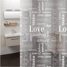 See Through Shower Curtain 2018 New Bathroom Shower Curtains Thick Waterproof Peva Love
