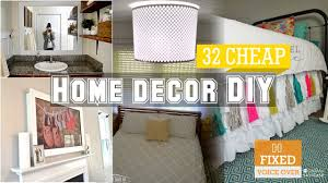 diy home decorations for cheap 32 cheap home decor diy ideas new v o youtube