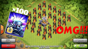 omg 100 pekka against 100 inferno tower coc private server