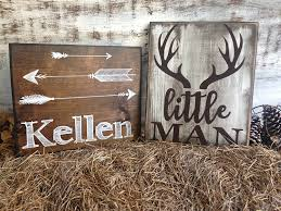 amazon com little man deer antler sign rustic nursery décor