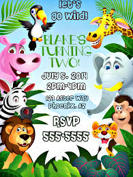 how to make jungle themed invitations