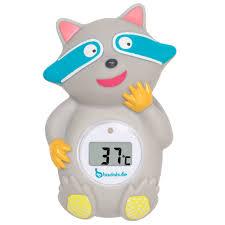 thermomètre chambre bébé thermomètre de bain digital badabulle bébé fille gris kiabi