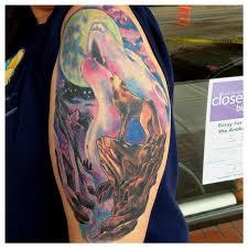 wolf scene by aaron powers tattoos