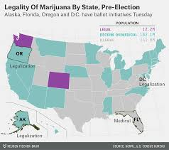 Alaska Population Map by Marijuana U0027s Chances On Election Day Fivethirtyeight