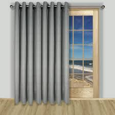 Patio Door Curtains Lined Grommet Patio Panel In 3 Colors Of Grasscloth