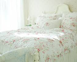 bedding set full queen king ruffle duvet cover white amazing