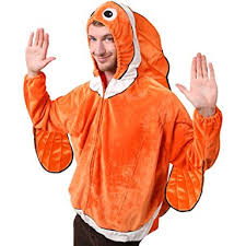 Ladies Clown Halloween Costumes Amazon Clown Fish Costume Size Standard Clothing