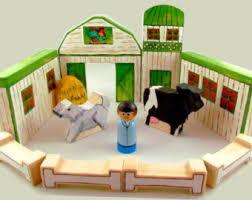Toy Barn With Farm Animals Miniature Toys Etsy Ca