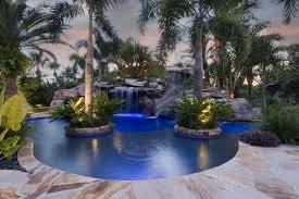 Palm Tree Patio Umbrella Swimming Pool Excellent Large Backyard Swimming Pool Design