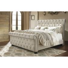 King Bed Frame Upholstered Willenburg Linen King Upholstered Sleigh Bed From Coleman